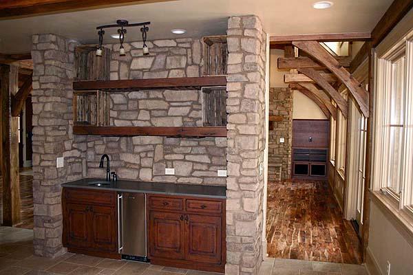 lake house custom home kitchen